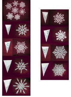 MANITAS CREATIVAS Y ALGO MAS: Papel -Modelo copos de nieve