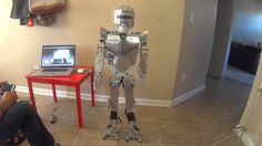 Homemade robot made with Raspberry Pi and Arduino. via LuisRobots Electronics This is my homemade robot the walks and speaks.This humanoid robot is a biped with Arduino Mega and using nRF24L01, MG9…