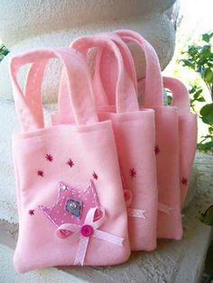 Princess Party All pink Set of 4 Party bags Princess Theme Party, Princess Birthday, Party Favor Bags, Goodie Bags, Favor Boxes, Pochette Surprise, Cinderella Party, Spa Party, Farm Party