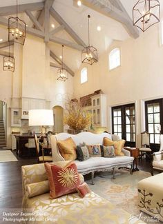 beams and high ceilings