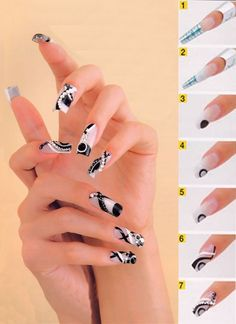 Black and White nail Art. Follow me for more...