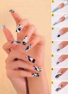 Image detail for -sharihearts: Rhinestone Skull Nail Art Beautiful Nail Art, Gorgeous Nails, Love Nails, Fabulous Nails, Beautiful Images, Nail Art Diy, Diy Nails, Glam Nails, Nail Art For Girls
