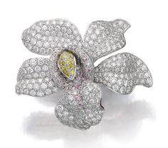 """Lot 247 - diamantový prsten, """"Caresse D'Orchidees"""", CARTIER"""