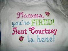 Momma your FIRED Custom embroidered saying shirt or one piece w/snaps, Toddlers Girls, Boys on Etsy, $21.00