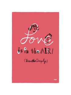 'Love is in the Air!', on Minted.com