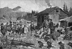 Die Jagdbraut in den Gailtaler Alpen - Holzstich nach Orginalzeichnung von F. Schlegel 1890 | Flickr - Photo Sharing! #Gailtal
