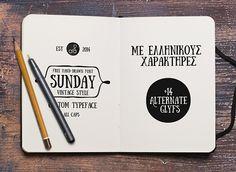 Sunday / Free font on Behance
