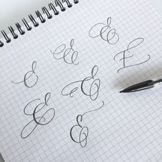 Day 5 of ✏️ E's were always a tricky one for me, but when I finally figured out where and how to intersect the three… Calligraphy Fonts Alphabet, Calligraphy Worksheet, Calligraphy Tutorial, Copperplate Calligraphy, Lettering Tutorial, Cursive, Penmanship, Flourish Calligraphy, Tattoo Lettering Fonts