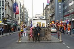 Checkpoint Charlie was the US' checkpoint between East Germany and West Germany. Today it's one of Berlin's biggest attractions.