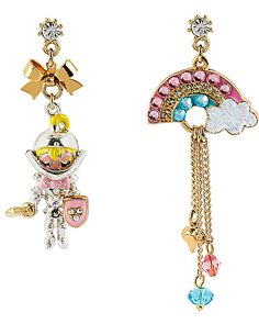 FAIRYLAND RAINBOW MISMATCH EARRING MULTI accessories jewelry earrings fashion