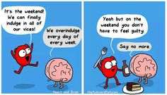 Heart and Brain - The Awkward Yeti Akward Yeti, The Awkward Yeti, Funny Cute, The Funny, Hilarious, Heart And Brain Comic, Life Comics, Happy Comics, Humor Grafico