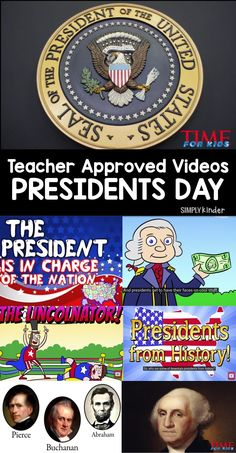 Teacher approved list of Presidents Day videos for preschool, kindergarten, and first grade students from Simply Kinder. This is a listing of great Presidents Day Videos that are appropriate for preschool, kindergarten, and first grade students. Kindergarten Social Studies, Social Studies Activities, Teaching Social Studies, Teaching Kindergarten, Student Teaching, Classroom Activities, Teaching Ideas, Classroom Ideas, History Activities