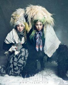 """VOGUE KOREA: Han Hye Jin, Song Kyung Ah & Jang Yoon Ju in """"Queen of Snow"""" by Photographer Hong Jang Hyun"""