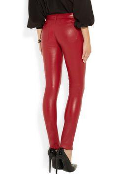 Saint Laurent|Skinny stretch-leather pants|NET-A-PORTER.COM