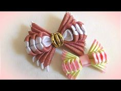 Bows for school from tapes, kanzashi MK Making Hair Bows, Diy Hair Bows, Diy Bow, Ribbon Art, Ribbon Crafts, Ribbon Bows, Bow Making Tutorials, Baby Girl Hair Accessories, Kanzashi Flowers