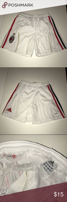 Adidas ClimaCool AC Milan Boy size 8 Perfect condition boy size 8 Adidas AC Milan Soccer shorts. Firm on price. Adidas Bottoms Shorts