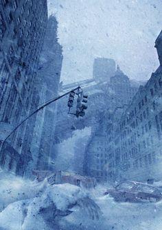 Steve Mcghee - A Post Apocalyptic frozen wasteland.