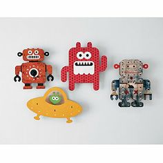 Robot Wall Art from companystore.com. Simple and cute.