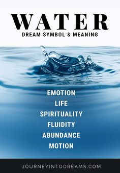 What does it mean to dream of water? Learn about the meaning of the water symbol and how it can signify your emotions and feelings in your dreams. Spiritual Meaning, Spiritual Quotes, Dream Interpretation Symbols, Dream Psychology, Life Lesson Quotes, Life Lessons, Life Quotes, Dream Quotes, Facts About Dreams