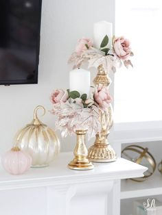 Loveliest Looks Of Fall Tour fall decor ideas Loveliest Looks Of Fall Tour - Summer Adams Fall Mantel Decorations, Thanksgiving Decorations, Seasonal Decor, Halloween Decorations, Thanksgiving Games, House Decorations, Pink Home Decor, Fall Home Decor, Autumn Home