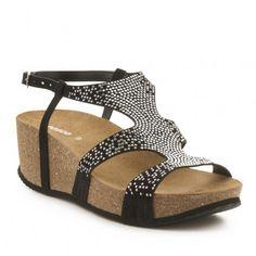 Sandalia bio cuña piel FOSCO Ugly, Sandals, Clothes, Shoes, Fashion, Summer 2016, Over Knee Socks, Fur, Women