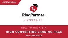 Lesson: How To Create A High Converting Landing Page with special guest from Unbounce