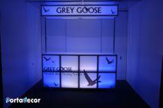 Grey Goose Canopy LED Illuminated Bar by PortaDecor