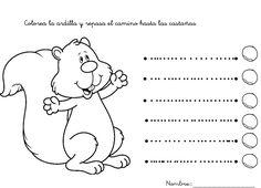 Fichas para practicar los trazos verticales y horizontales para niños