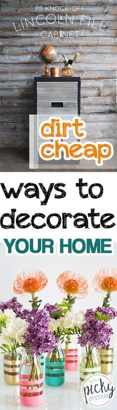 Dirt Cheap Ways To Decorate Your Home Decor