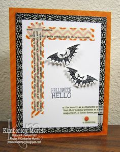 LOVE, LOVE, LOVE the new Halloween Hello stamp set and Witches' Brew Designer Washi Tape!!!