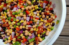 Confetti Bean Salad ~ great served as an appetizer with pita bread or your favorite tortilla chips