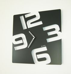 Beautiful clock Design TEMPORIS with minimalist shapes well suited for modern interiors. French Design by Tolonensis Creation Laser Cut Metal, Laser Cutting, Traditional Clocks, Wall Watch, Cool Clocks, Modern Clock, Wall Clock Design, Unique House Design, Steel Art