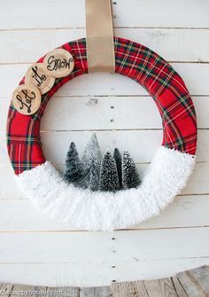 """""""Let it Snow"""" Christmas Wreath 
