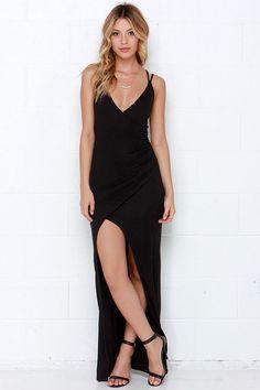 Anaconda Black Maxi Dress at Lulus.com!