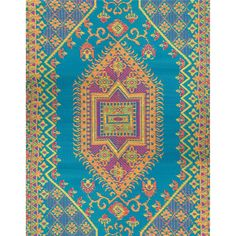 Mad Mats - Oriental Turkish Aqua - 5x8 | SKU: FM-OTU58-AQ | recycled | mat| outdoor rugs | DFOHome