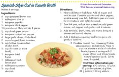 Seafood is an excellent source of protein and other essential nutrients. This recipe is quick and easy, even for weeknights. Protein Sources, Spanish Style, Brown Rice, Cod, Kansas, Seafood, Recipies, Healthy Recipes