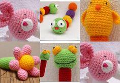 HERMOSOS JUGUETES PARA BEBES TEJIDOS AL CROCHET Crochet Bebe, Crochet Hats, Lana, Beanie, Diy Crafts, How To Make, Crocheting, Google, How To Make Purses