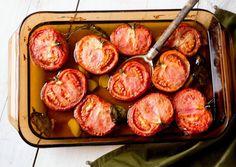 Tomates de inverno assados