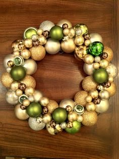 "Gratefully Gorjus: ""Ballin"" DIY Ornament Ball Wreath....doing this today!!!"