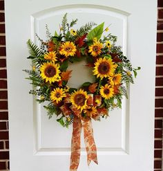 LG Fall Wreaths, Front Door Wreaths, Sunflower Wreaths, Fall Decor, Farmhouse Decor, Rustic Decor, Autumn Wreaths, Thanksgiving Decor W429 Thanksgiving Wreaths, Autumn Wreaths, Thanksgiving Decorations, Autumn Decorations, Christmas Wreaths, Front Door Decor, Wreaths For Front Door, Door Wreaths, Sunflowers And Roses