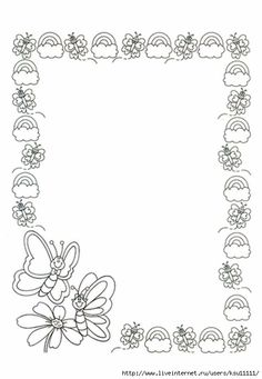 Diapositiva26 (483x700, 136Kb) Colouring Pages, Printable Coloring Pages, Coloring Books, Page Borders Design, Border Design, Borders For Paper, Borders And Frames, School Frame, Cute Frames
