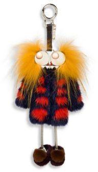 Fendi Hypnoteyes Fur Key Charm ($1300)