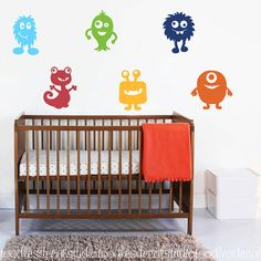 Monster Wall Decal Monster Vinyl Wall Decal by ToodlesDecalStudio