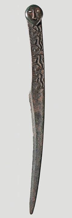 Knife: 8th Century BC, North East China or southeast Inner Mongolia, Bronze, Length: 21.6 cm