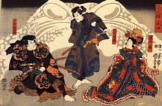 Японские средневековые цветные гравюры