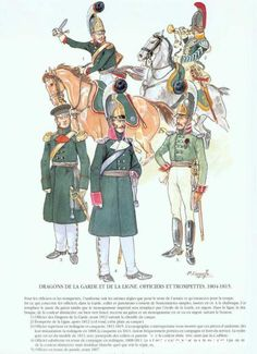 Russian Dragoons of the Guard and Line, Officers and Trumpeters