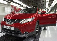 In September 2015 the new Nissan Qashqai became the fastest ever UK-built vehicle to smash the half million production mark. Since production began in a new Qashqai has been built every 62 seconds, or 58 per hour, at the Sunderland plant's Line   Most Popular Cars, New Nissan, U Turn, Nissan Qashqai, Sunderland, New Model, Car Ins, Fast Cars, Japan
