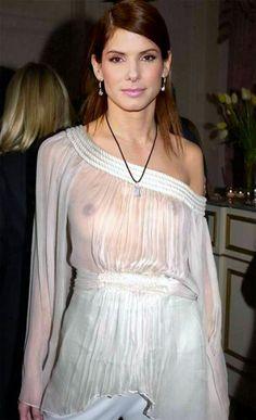 Sandra Bullock - Sheer clothing is very fashionable to wear.
