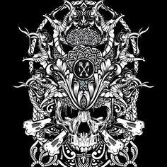 "@hydrosevenfour's photo: ""Skull Mandala mess around."""
