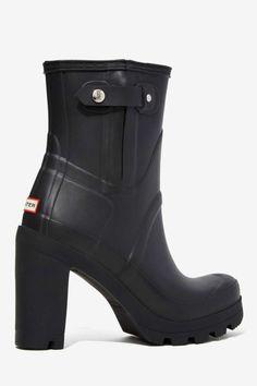 Hunter Original High Heel Rainboot - Shoes | Ankle | Heels | Heels ---- killer rain boots